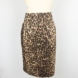 Express Leopard Print High Waisted Pencil Skirt